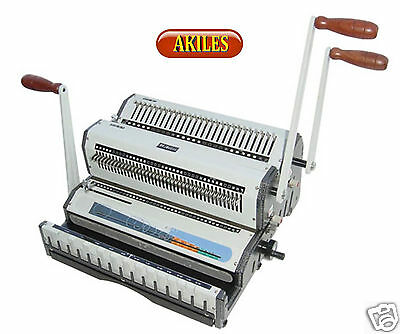 "Akiles Wiremac Duo Wire Binding Machine & Punch for 2:1 & 3:1 spines 14"" ( New )"