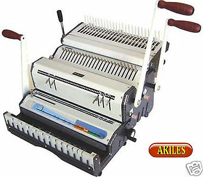 Akiles Duomac C41 Binding Machine & Punch for 4:1 Coil, Combs or Wire 3-in-1 New