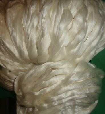 Beautiful 50% Silk 50% Merino Tops Spinning Felting Art Silk Paper