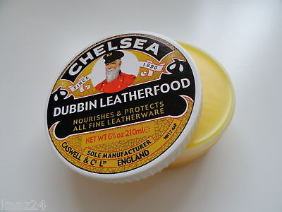 CHELSEA LEATHER FOOD 210ml for Chainsaw Boots, Handbags etc Chelsea Dubbin
