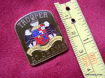 """ALABAMA STATE TROOPER HIGHWAY SAFETY PROUD MINI LAPEL PATCH BADGE PIN NEW 1"""""""
