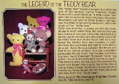 The Legend of the Teddy Bear Postcard