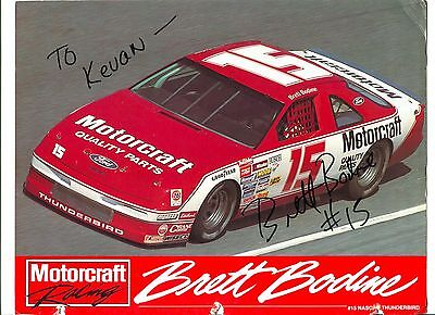 Brett Bodine NASCAR Sprint Cup Nationwide Driver Signed Autograph Photo