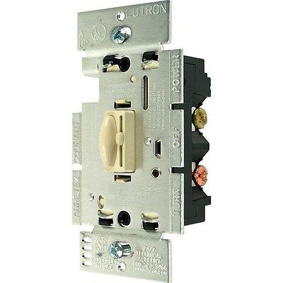 Lutron Qoto 600w Single-Pole Dimmer AND Switch - Ivory Color - Set of 50