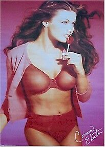 CARMEN ELECTRA POSTER ~ RED 22x34 Pinup Celebrity Lingerie Panties