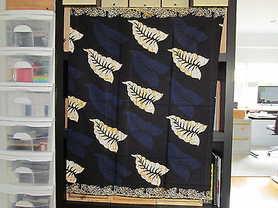 Malaysia Batik Sarong Hand Made Dye Print Table Runner Decorative Flora Type 2