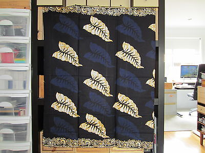 Malaysia Batik Sarong Hand Made Dye Print Table Runner Decorative Flora Type 3