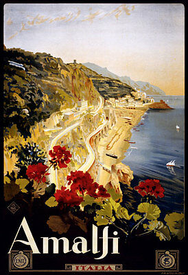 TA23 Vintage Italian Italy Amalfi Salerno Travel Poster Print - A1 A2 A3