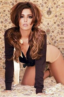 CHERYL COLE POSTER ~ ON BED 24x36 Music Girls Aloud Pinup Tweedy
