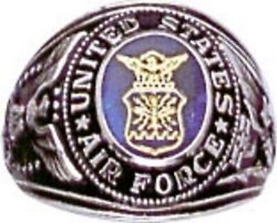 Air Force Usaf Sapphire Military Light Ring Size 8 9 10 11 12 13