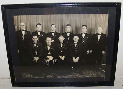 1944 VINTAGE ROCHESTER NY IOOF ODD FELLOWS LODGE GROUP PHOTO