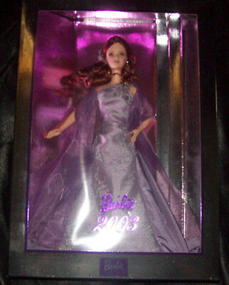 RARE HTF 2003 Treasure Hunt REDHEAD Lavender Barbie Collector Series NRFB