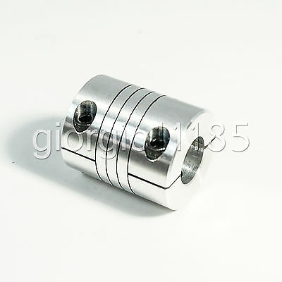 "9.5mm x 12.7mm Flexible Coupler 3/8"" to 0.5"" Shaft Coupling"