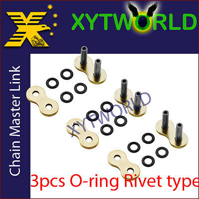 JLR-520H-O RING Master Joint Joining Link RIVET TYPE FOR #520 CHAIN Motorcycle
