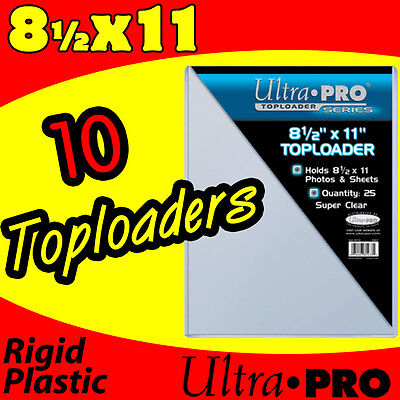 (10) 8.5x11 ULTRA PRO RIGID TOPLOADERS PHOTO HOLDERS