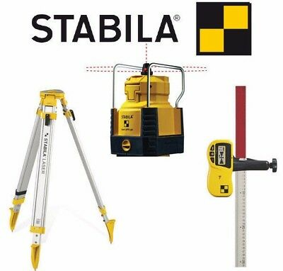 STABILA Self Levelling Rotary Laser Level, Tripod, Receiver & Staff Set, LAPR150