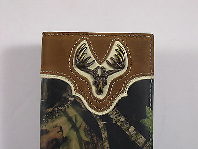 Nocona Western Checkbook Cover Wallet Billfold Euro Mount Checkbook