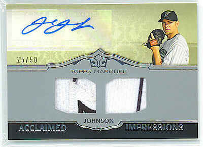 2011 Topps Marquee Josh Johnson Dual Jersey Patch Auto Autograph #/50