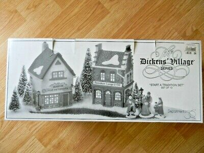 """Dept 56 """"Start A Tradition Set"""" Dickens Village Series - #58327- Used"""