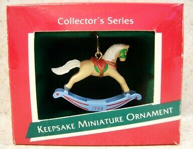 1989 Hallmark Miniature Ornament - The Rocking Horse Series #2