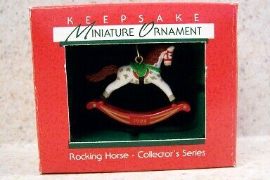 1988 Hallmark Miniature Ornament - The Rocking Horse #1 in the Series