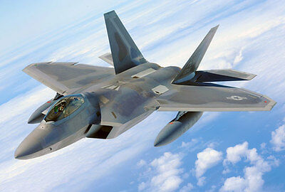 MA1 Military Aircraft F22 Raptor Fighter Jet US Air force Poster Print - A2 A3