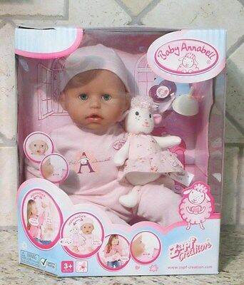 BABY ANNABELL INTERACTIVE BABY DOLL ZAPF CREATION