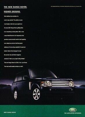 2003 Range Rover - Higher Ground - Classic Vintage Advertisement Ad A10-B