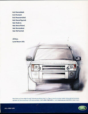 2004 Land Rover LR3 - drawing - Classic Vintage Advertisement Ad A12-B