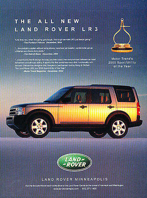 2005 Land Rover LR3 - Award - Classic Vintage Advertisement Ad A17-B