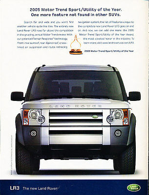 2005 Land Rover LR3 - Motor Trend - Vintage Advertisement Ad A18-B