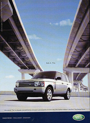2005 Range Rover - Not A The -  Classic Vintage Advertisement Ad A9-B