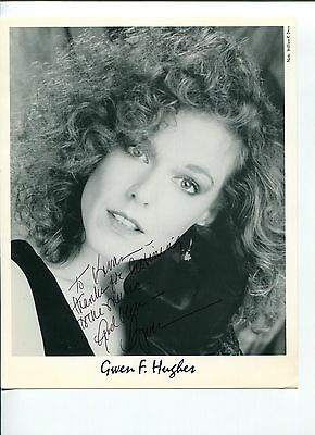 Gwen Hughes Jazz Blues Singer Songwriter Signed Autograph Photo