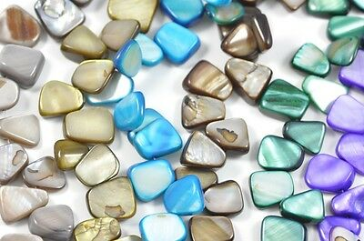 14mm Mother of Pearl Shell Nugget Beads for Jewellery Making Craft -1 string