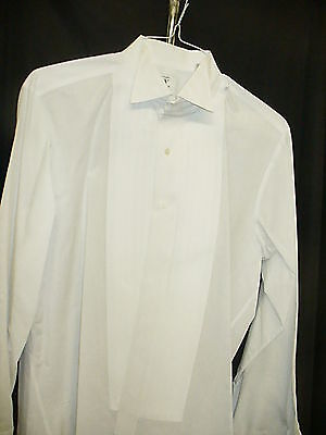 Formal White Euro Wing Collar Shirt 1/2 inch pleat - 77760