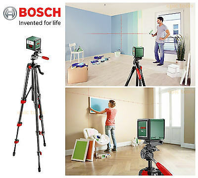BOSCH Quigo-PLUS Self Levelling Cross Line Laser Level & Adjustable Tripod Kit