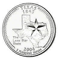 2004-P Texas Brilliant Uncirculated State Quarter~Free Shipping~See Our Store~