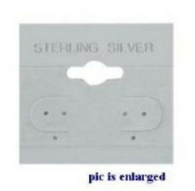 100 Sterling Silver Soft Grey Earring Hang Cards 2 x 2
