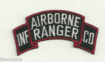 ARMY RANGER AIRBORNE INFANTRY SHOULDER TAB ROCKER EMBROIDERED MILITARY PATCH