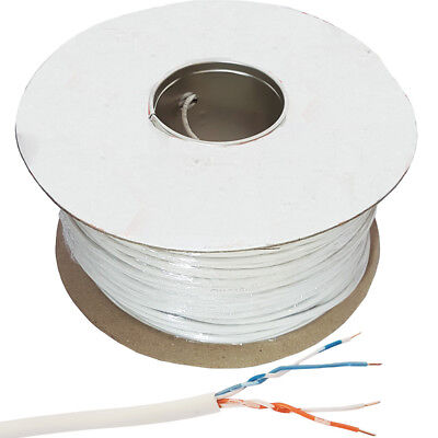 100m BT Telephone Cable Wire Reel - 2 Pair 4 Way/Core -Make Phone Extension Line