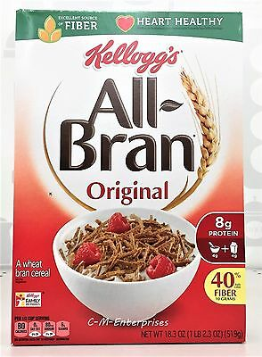 All Bran Original Cereal 18.3 oz Kellogg's