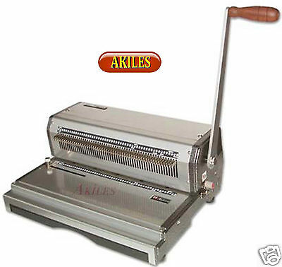Akiles Coilmac-M+ Coil Binding Machine & Punch 4:1 Oval Holes 13-inch [New]