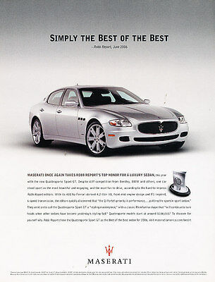2006 Maserati Quattroporte Sport GT - the best - Vintage Advertisement Ad A19-B
