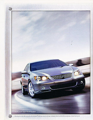2006 Acura RL - cornering redefined - Vintage Advertisement Ad A19-B