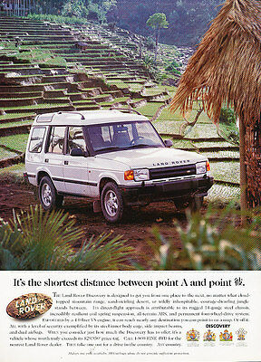 1996 Land Rover Discovery - shortest distance - Vintage Advertisement Ad A22-B