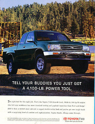 1996 Toyota T100 Truck - tell your buddies - Vintage Advertisement Ad A26-B