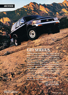 1993 Toyota 4Runner - get serious - Vintage Advertisement Ad A27-B