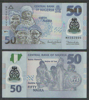 Nigeria 50 Naira 2011 Currency Cat # P-New UNC POLYMER