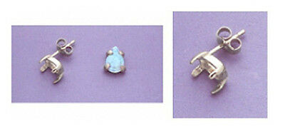 Two Pear Cabochon 925 Sterling Silver Earring Castings (5x3mm to 18x13mm)