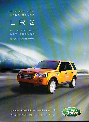 2007 Land Rover LR2 - breaking new ground -  Vintage Advertisement Ad A36-B